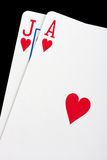 Blackjack cards Stock Photography