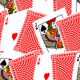 Blackjack cards in a seamless pattern Stock Images