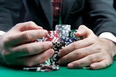 Blackjack in einem Kasino Stockfoto