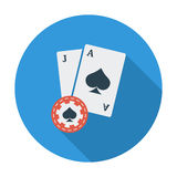 Blackjack. Flat vector icon for mobile and web applications. Vector illustration royalty free illustration