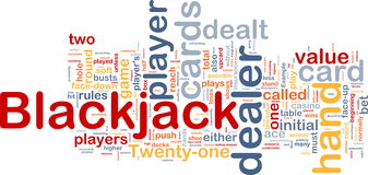 Blackjack game background concept Stock Photos