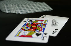 Blackjack hand Stock Photography