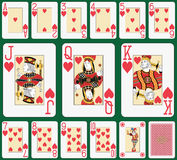 Blackjack Heart suit large index Stock Images