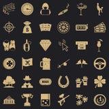 Blackjack icons set, simple style. Blackjack icons set. Simple style of 36 blackjack vector icons for web for any design stock illustration