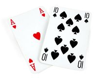Blackjack isolated on white Royalty Free Stock Image