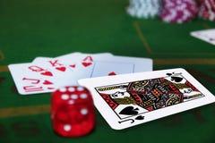 blackjack kostka do gry paczka Fotografia Royalty Free