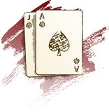 Blackjack Paint. Blackjack hand in a painted style Royalty Free Stock Image