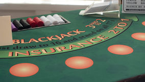 BlackJack 21. A Picture of a Blackjack table Stock Photos