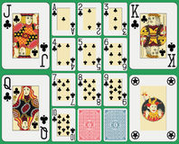 Blackjack Playing Cards Club Suit Royalty Free Stock Images