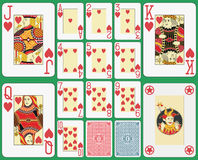 Blackjack Playing Cards Hearts Suit Stock Images