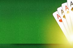 Blackjack and Poker Backdrop. Blackjack and Poker Copy Space Backdrop Concept Illustration. Playing Cards Background Royalty Free Stock Photography