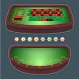 blackjack rulety stół Zdjęcia Stock