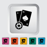 Blackjack. Single flat icon on the button. Vector illustration royalty free illustration