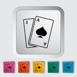 Blackjack. Single flat icon on the button. Vector illustration stock illustration