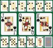 Blackjack Spade suit large index Royalty Free Stock Photos