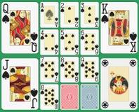 Blackjack-Spielkarte-Spaten-Klage Lizenzfreies Stockfoto