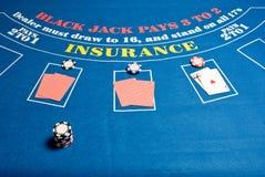 blackjack stół fotografia royalty free
