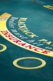 Blackjack table Royalty Free Stock Photo