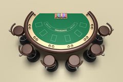 Blackjack table and chairs Stock Images