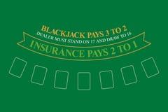 Blackjack table. top view. Vector illustration vector illustration