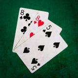 Blackjack tjugo en 11 - fyrkant Royaltyfria Bilder