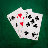 Blackjack tjugo en 12 - fyrkant Royaltyfri Bild