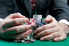 Blackjack w kasynie Zdjęcie Stock