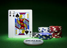 Blackjack Winning Hand Royalty Free Stock Photos