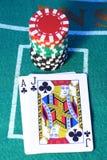 blackjackhand Arkivbilder
