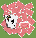 Blackjackhintergrundspiel-Kartenschlurfen Lizenzfreies Stockfoto