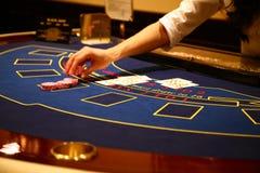 Blackjackspiel Stockbilder