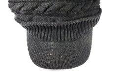 Blackl che tricotta i cappelli della lana Fotografie Stock
