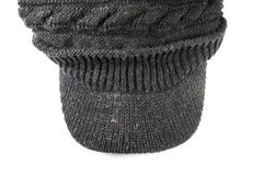 Blackl knitting wool hats Stock Photos