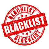 Blacklist rubber stamp Royalty Free Stock Image