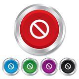 Blacklist sign icon. User not allowed symbol. Stock Images