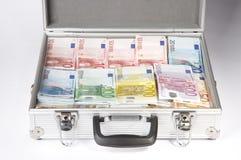 Blackmail. Money case on white background Stock Photos