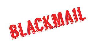 Blackmail rubber stamp Stock Image