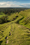 Blackmore dolina od Hambledon wzgórza, Dorset, UK zdjęcie stock