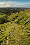 Blackmore Vale dalla collina di Hambledon, Dorset, Regno Unito fotografia stock