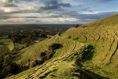 Blackmore Vale dalla collina di Hambledon, Dorset, Regno Unito immagini stock libere da diritti