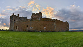 Blackness Castle is a boat shaped fortress Royalty Free Stock Photography