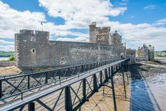 Blackness Castle, near the omonimous village in the council area of Falkirk, Scotland. Royalty Free Stock Images