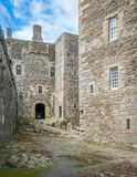 Blackness Castle, near the omonimous village in the council area of Falkirk, Scotland. Royalty Free Stock Photo