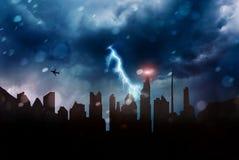 Blackout and apocalypse. A blackout and apocalypse concept Royalty Free Stock Photos