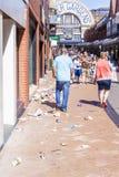 Blackpool's van een rommel gemaakte straten stock afbeelding