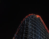 Blackpool - Achterbahn nachts Stockfotografie