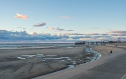 Blackpool Beach during fall royalty free stock image