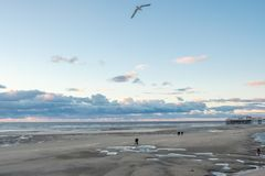 Blackpool Beach during fall royalty free stock photo