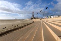 Blackpool beach Lancashire England Stock Photos