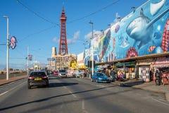Blackpool promenade stock photography